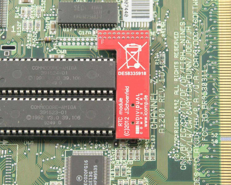 Rtc Module Icomp En Commodorecircuitboardclockjpg Installed In A1200